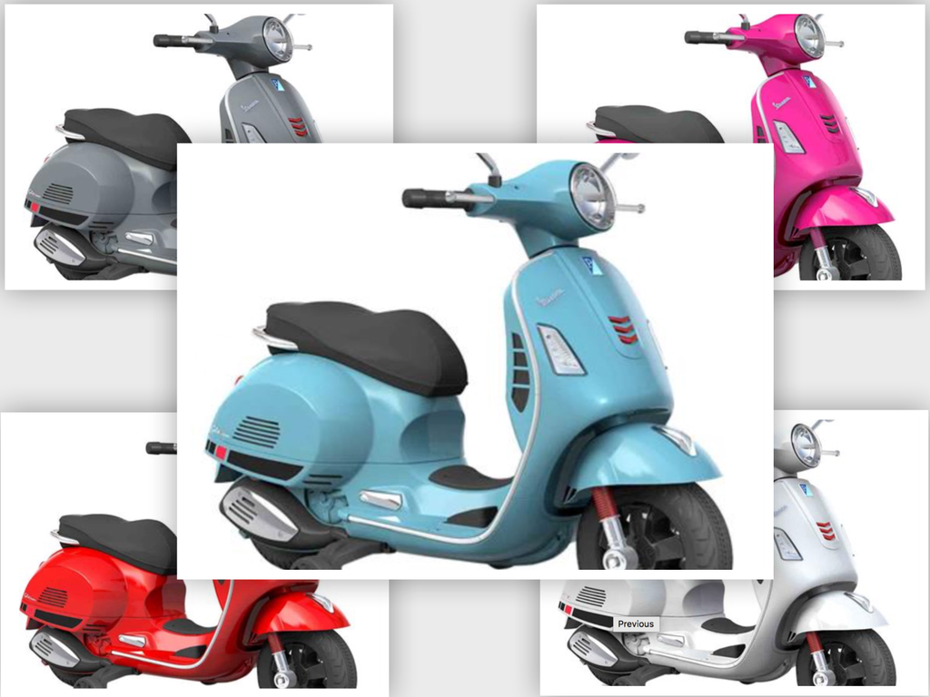Lifestyle Kids 12V Vespa GTS Scooter (5 Colours Options)
