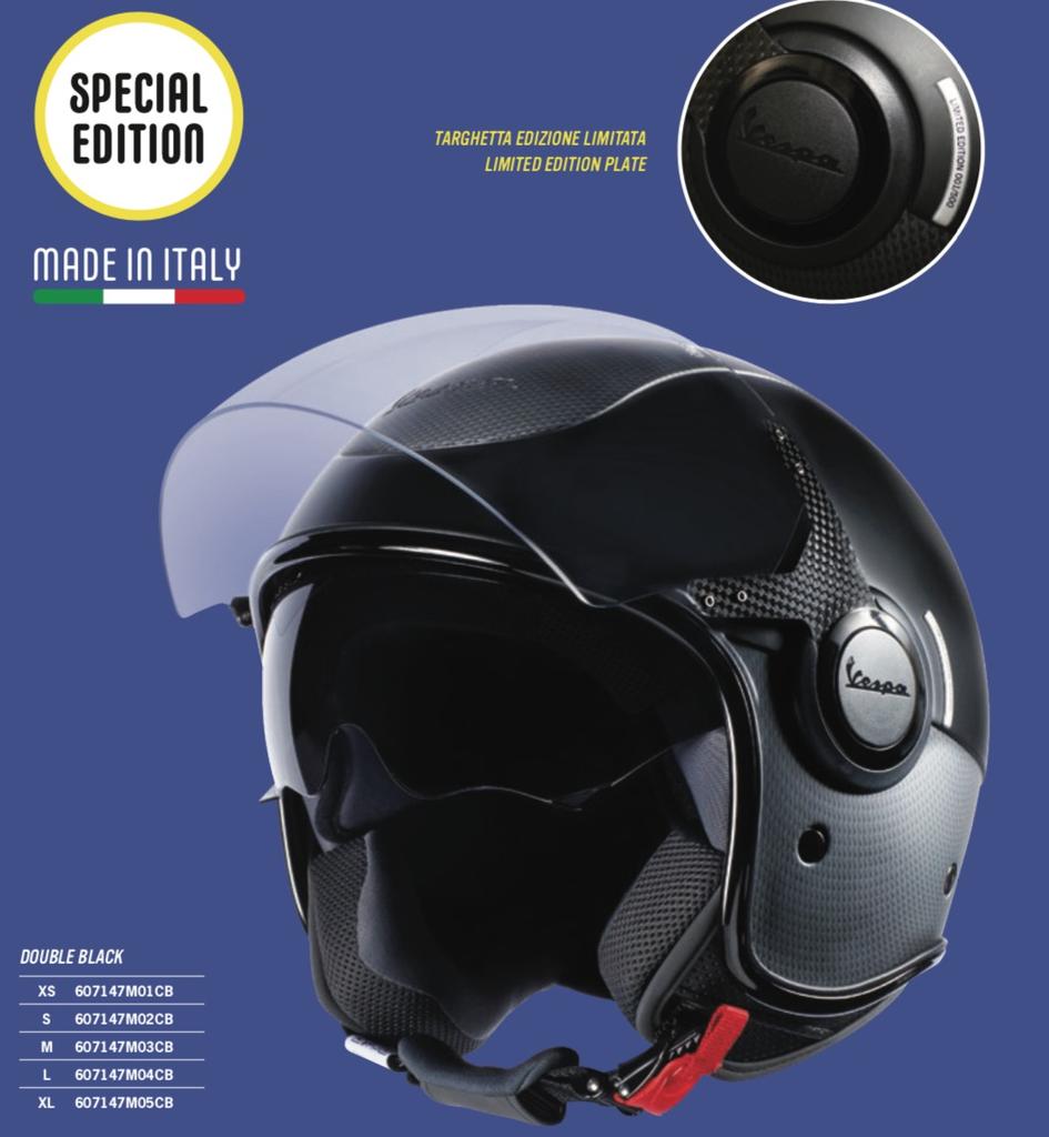 Apparel Helmet, Vespa VJ Carbon Double Black