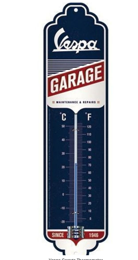 Lifestyle Thermometer, Vespa Garage 28cm height