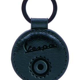 Lifestyle Keychain, Vespa Open Leather Round