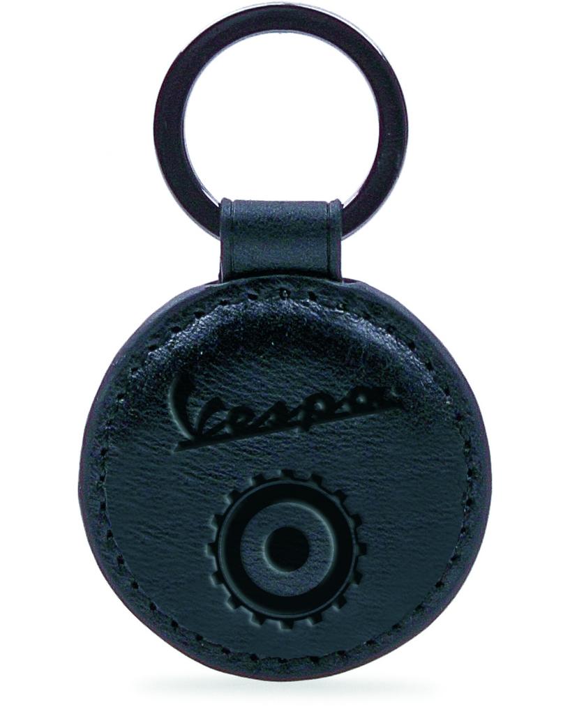 Lifestyle Keychain, Vespa Open Leather Round