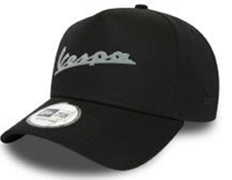 Apparel Hat, Vespa Trucker Black Ball Cap