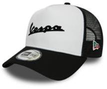 Lifestyle Hat, Vespa Trucker Black & White Ball Cap
