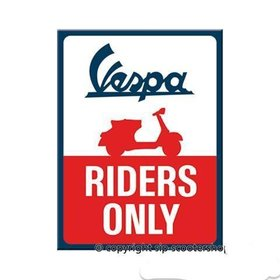 Lifestyle Magnet, Vespa Riders Only 6x8cm