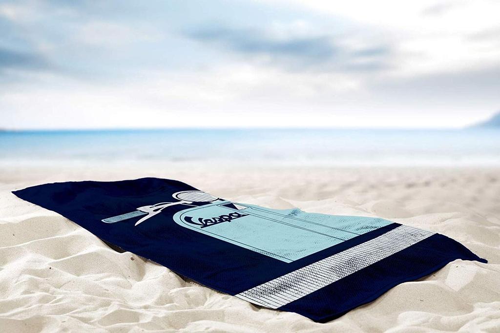 Lifestyle Beach Towel, Vespa Silhouette Blue