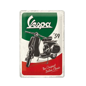 Lifestyle Sign, Metal Vespa The Italian Classic 60x40cm