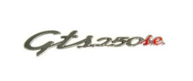 """Parts Emblem, """"GTS250i.e."""" RH Cowl"""