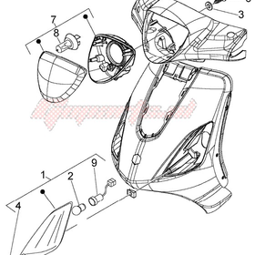 Parts Signal Lamp, LH Front Piaggio Fly (2006-2012)