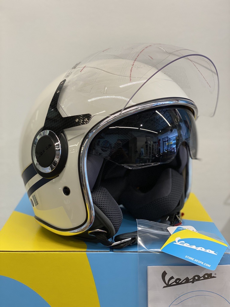 Apparel Helmet, Vespa VJ White/Blue Yacht Club II Edition