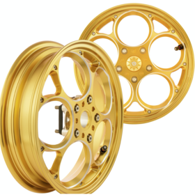 "Parts Rim Set, MARU's 12"" GTS Gold Annodised Custom Machined"