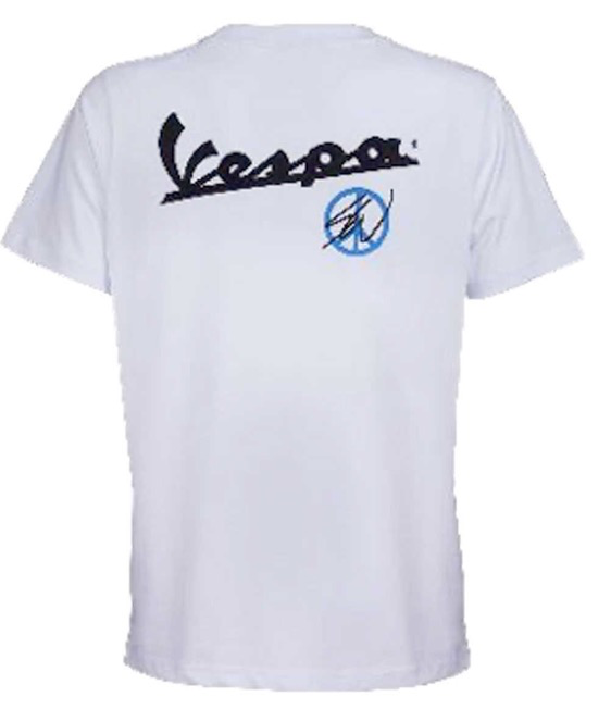 Apparel T-Shirt, Sean Wotherspoon Vespa Scooter White
