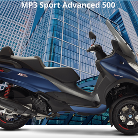 Vehicles Piaggio, MP3-500 HPE Sport Advanced Blue