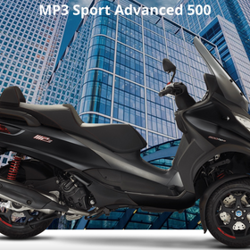 Vehicles Piaggio, MP3-500 HPE Sport Advanced Black