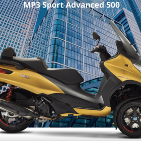 Vehicles Piaggio, MP3-500 HPE Sport Advanced Gold