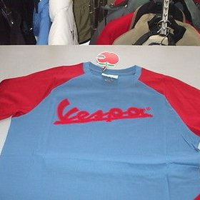 Apparel Men's, Vespa LS-T Blue/Red Medium