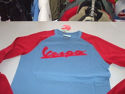 Apparel Men's, Vespa LS-T Blue/Red Small