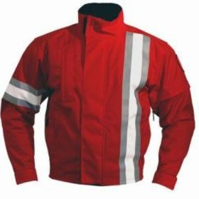 Apparel Jacket, Carazzo Men's 5.0 Red (Grey Stripe) Small