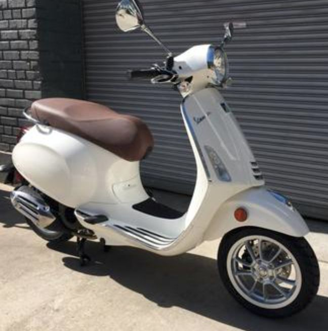 Vehicles Vespa, 2019 Primavera iGET 155cc ABS Bianco Innocenza