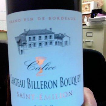 Ch Billeron Bouquey Ch Billeron Bouquey 2015<br />Saint-Emilion, France