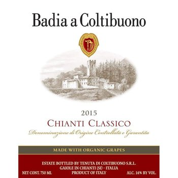 Badia Coltibuono Badia a Coltibuono Chianti Classico 2017  Organic<br /> Tuscany, Italy