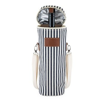 True Seaside Insulated One Bottle Carrier with Corkscrew by Twine
