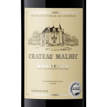 Ch Malbec Bordeaux Rouge 2018<br /> Bordeaux, France