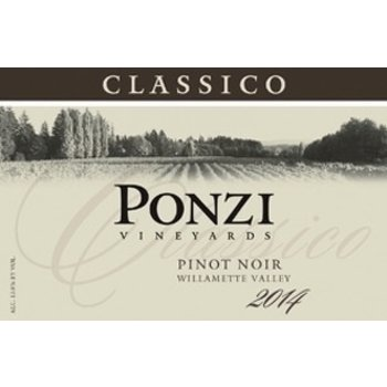 Ponzi Vineyards Classico Pinot Noir 2014<br /> Willamette Valley, Oregon<br /> 92pts-WE