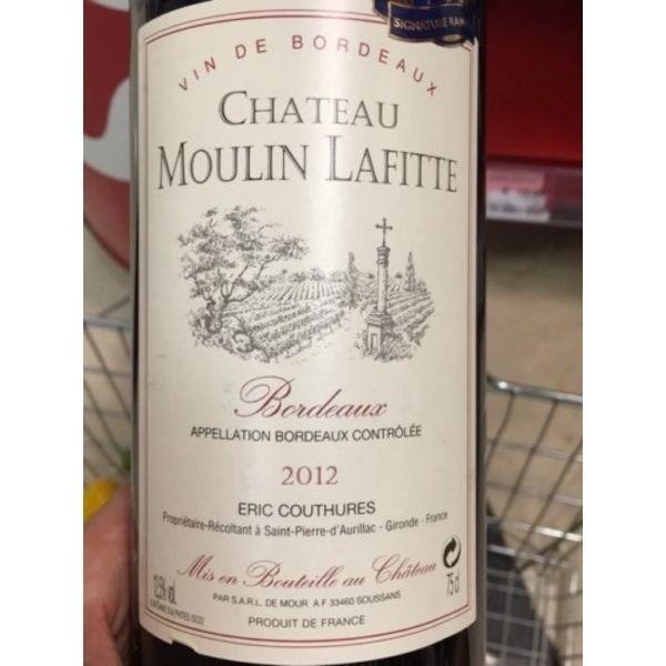 Ch Moulin Lafitte Bordeaux 2015<br /> Brdeaux, France