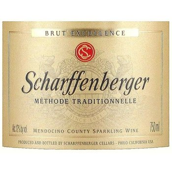 Scharffenberger Sparkling Brut  Excellence<br /> Mendocino, California<br /> 91pts-WE