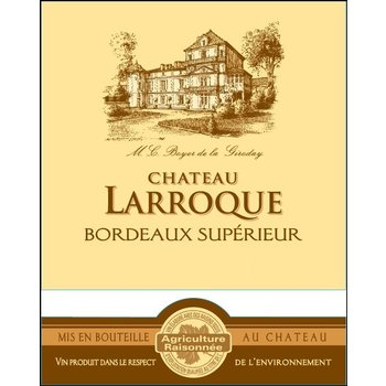 Ch Larroque Bordeaux Superieur Rouge 2015<br /> Bordeax, France<br /> 95pts-D