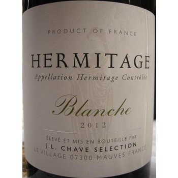J.L. Chave Hermitage Blanc Blanche  2012 <br /> Rhone, France  <br /> 97pts-WS