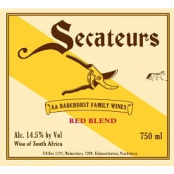Badenhorst Family Wines Secateurs Vintage Red Wine 2018<br /> Swartland, South Africa