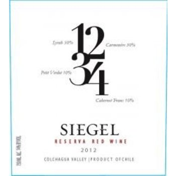 Siegel Siegel Reserve 1234 Red Chile 2016   <br /> Colchague Valley, Chile