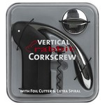 Metrokane Distribution, LLC Vertical Rabbit Corkscrew with Foil Cutter & Extra Spiral in Velvet Black