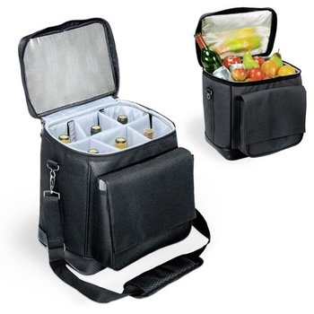 Picnic Time 6 Botttle Black Carring Case