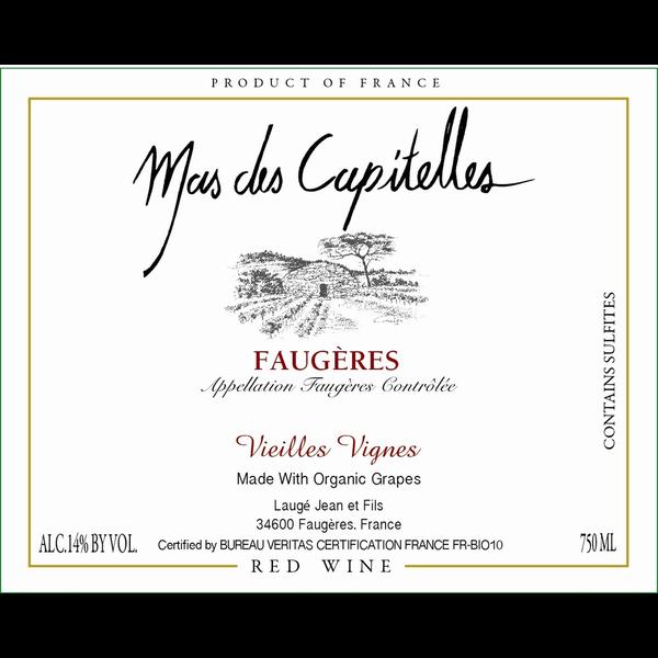 Mas des Capitelles Faugeres Vieilles Vignes 2016 / ORGANIC<br /> Faugeres/ South West, France