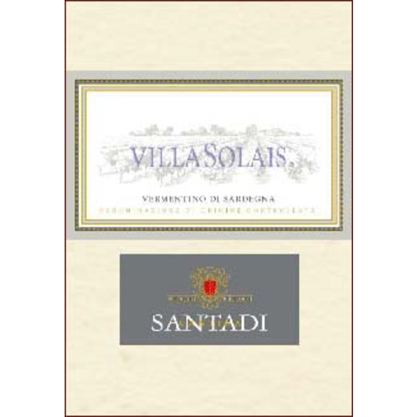 Santadi Cantina Santadi Villa Solais Vermentino Di Sardegna 2018<br /> Italy