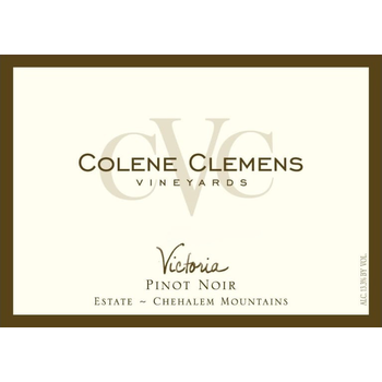Colene Clemens Victoria Pinot Noir 2014<br /> Chehalem Mountains, Willamette Valley, Oregon