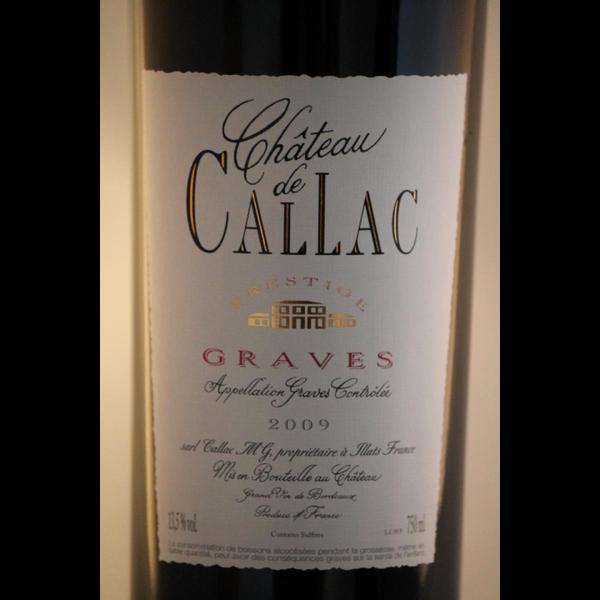 Maison Riviere Chateau de Callac Graves 2016<br /> Bordeaux, France