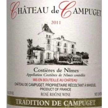 Ch de Campuget Ch de Campuget Tradition Red Blend 2016<br />Costieres de Nimes, France