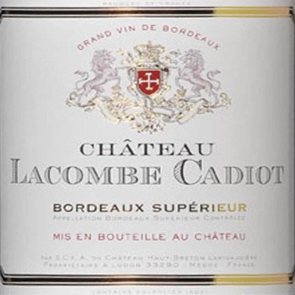 Ch. Lacombe Cadiot 2010<br /> Bordeaux, France