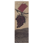 True Illustrated Grapes Single Bottle Wine Bag