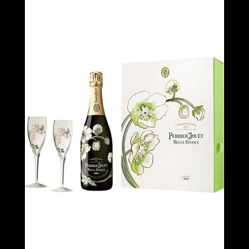 Perrier-Jouet Perrier Jouet Fleur de Champagne Belle Epoque Gift Pk w/Flutes 2011<br />Champagne, France  <br /> 94pts-WE, 92pts-JS