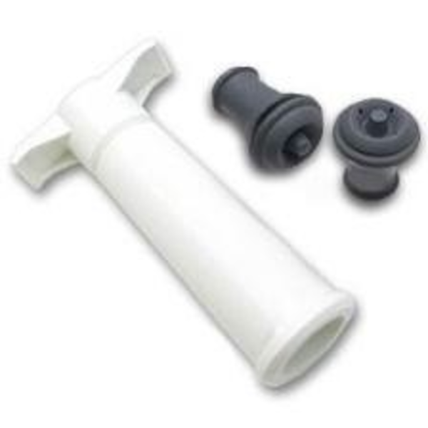 Oenophilia Vacu Vin Pump w/2 Stoppers WHITE