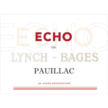 Ch Lynch Bages Echo De 2016<br /> Bordeaux, France<br />