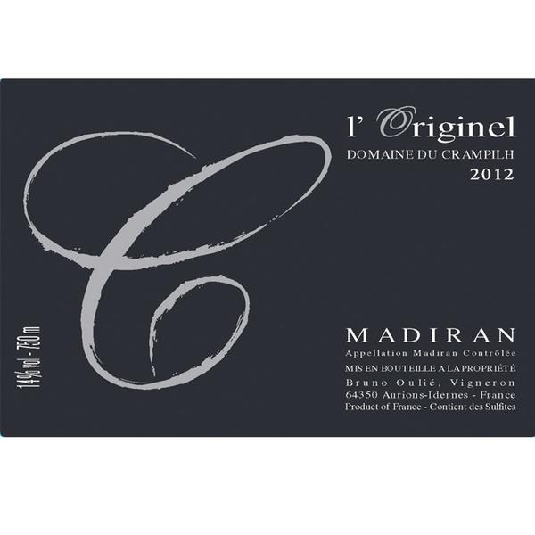 Domaine du Crampilh L'Originel Tannat-Cabernet Madiran 2016<br /> Madiran, Southwest France, France <br /> 91pts-WE