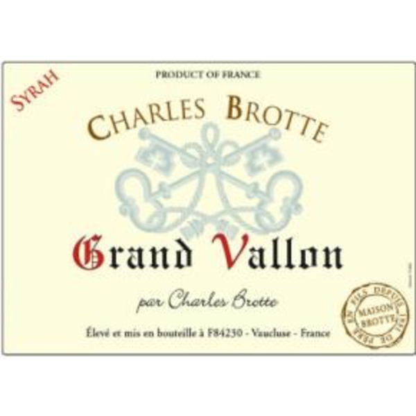 Maison Brotte Grand Vallon Syrah 2018<br /> Vin de France, France