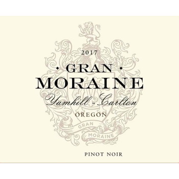 Gran Moraine Yamhill-Carlton Pinot Noir 2017<br /> Yamhill-Carlton District, Willamette Valley, Oregon<br /> 94pts-WS, 92pts-JS