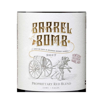 Barrel Bomb Kentucky Bourbon Barrel Aged Proprietary Red Blend 2017<br /> Lodi, California
