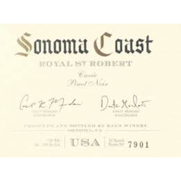 Raen Sonoma Coast Royal St. Robert Pinot Noir 2017<br /> Sonoma, California